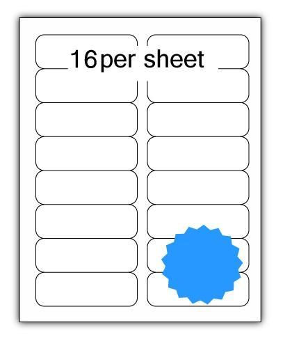 ULL16BL - A4 Label Blue 99x34mm 16 up (100 Sheets)