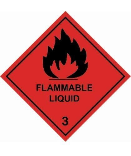 "HZ231 - Hazard Label ""FLAMMABLE LIQUID"" 100x100mm (250 Labels per Roll)"