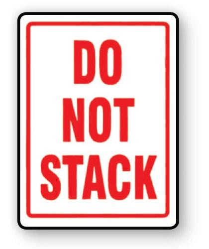 "VL108ST - Parcel Label ""DO NOT STACK"" 108x79mm (500 Labels per Roll)"