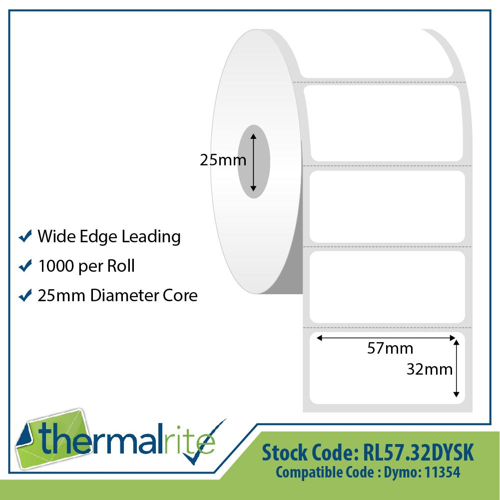 Thermalrite Dymo Seiko Compatible Labels 57x32mm