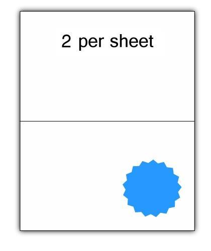 CLO2BL - A4 Label Blue 210x148.5mm 2 up (100 Sheets)