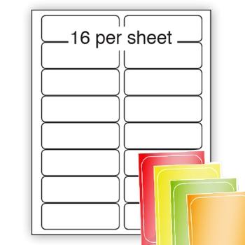 Fluorescent A4 Labels 99x34mm 16 per sheet