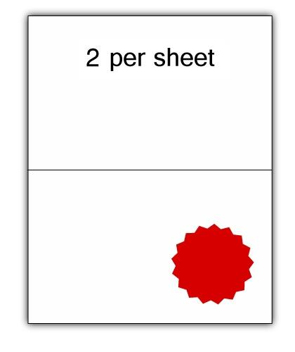 CLO2R - A4 Label Red 210x148.5mm 2 up (100 Sheets)