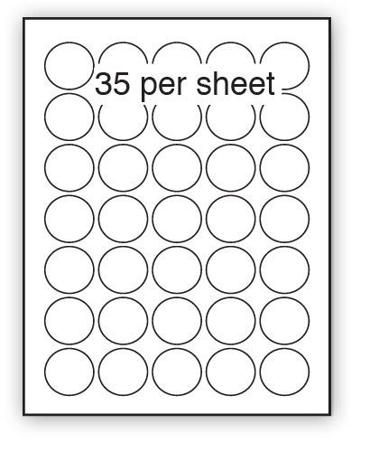 P37CCG - A4 Label Gloss White 37mm Diameter Circle 35 up (200 Sheets)