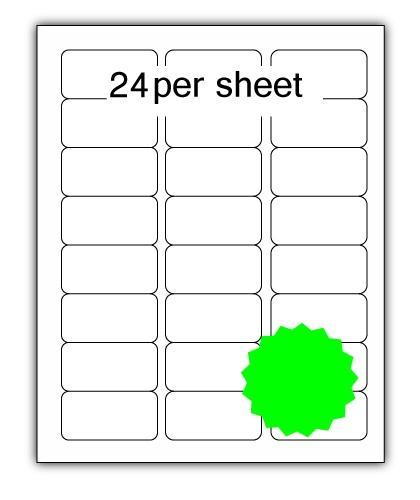 ULL24FLG - A4 Label Fluorescent Green 64x34mm 24 up (100 Sheets)