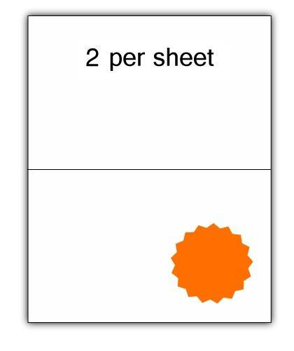 CLO2O - A4 Label Orange 210x148.5mm 2 up (100 Sheets)