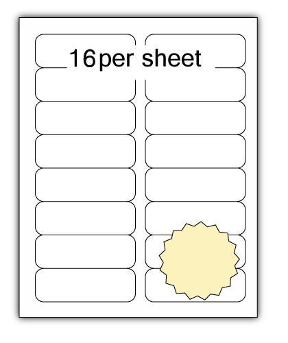 ULL16CR - A4 Label Cream 99x34mm 16 up (100 Sheets)