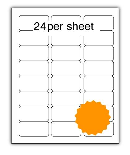 ULL24FLO - A4 Label Fluorescent Orange 64x34mm 24 up (100 Sheets)