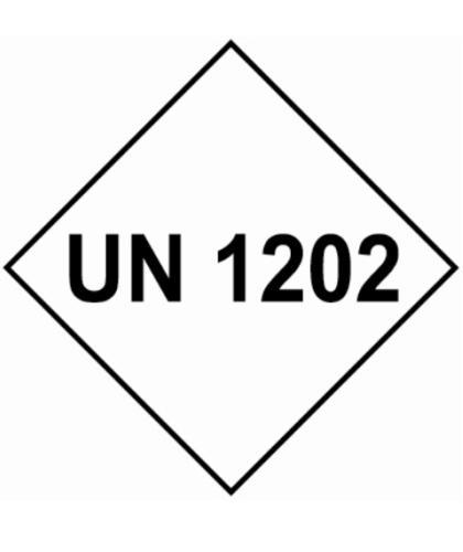 "HZ1011 - Hazard Label""UN 1202"" 100x100mm (250 Labels per Roll)"