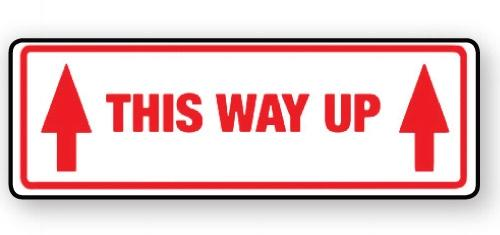 "VL148TH - Parcel Label ""THIS WAY UP"" 148x50mm (500 Labels per Roll)"
