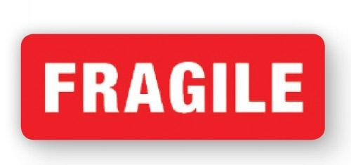 "VL89FR - Parcel Label ""FRAGILE"" 89x32mm (1000 Labels per Roll)"