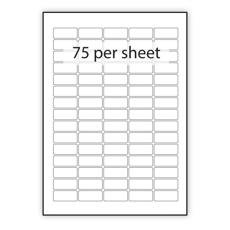PCL3716BLREM - A4 Label Blue Removable 37x16mm 75 up (200 Sheets)