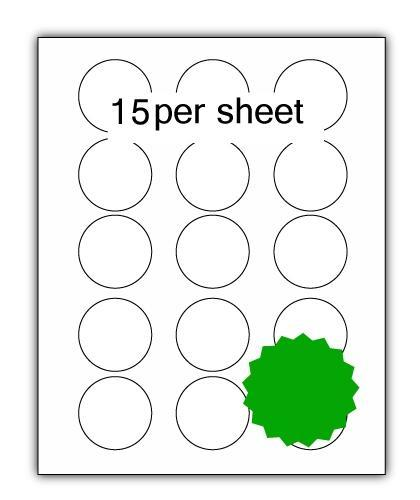 P51G - A4 Label Green 51mm Diameter Circle 15 up (200 Sheets)