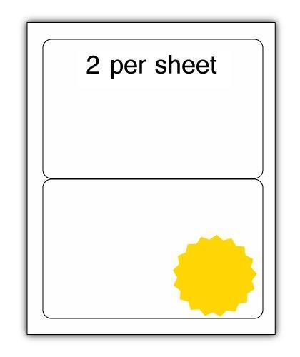 ULL2Y - A4 Label Yellow 200x144mm 2 up (100 Sheets)