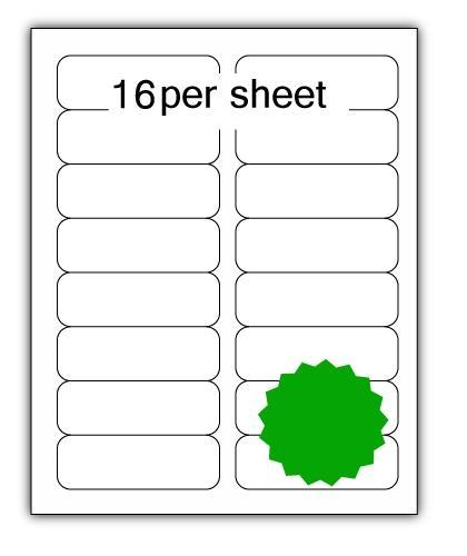 ULL16G - A4 Label Green 99x34mm 16 up (100 Sheets)