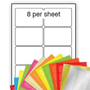 A4 Coloured Labels 96x68mm 8 per sheet