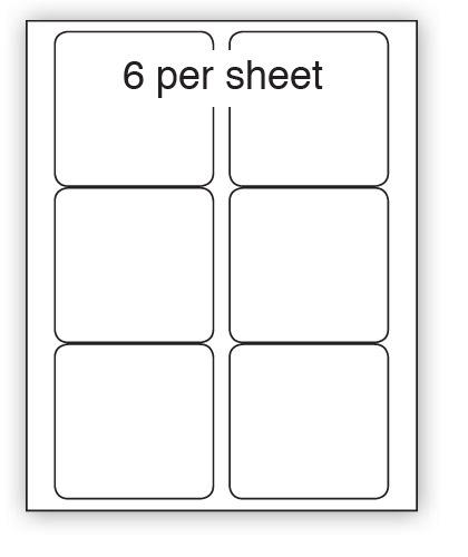 ULL6REM - A4 Label White Removable 99x93mm 6 up (100 Sheets)
