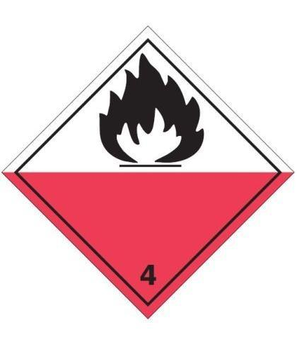 "HZ410P - Hazard Label ""FLAMMABLE"" 100x100mm (250 Labels per Roll)"