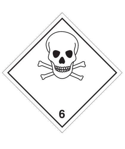 "HZ611P - Hazard Label ""TOXIC"" 100x100mm (250 Labels per Roll)"