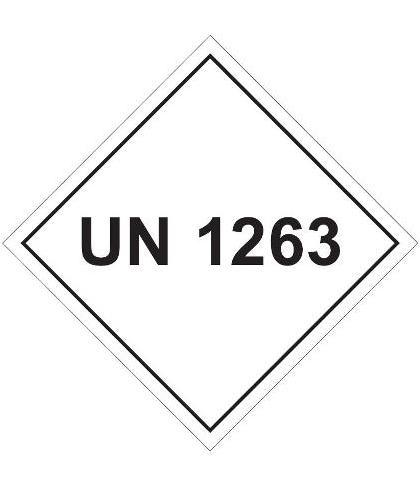 "HZ1015 - Hazard Label ""UN 1263"" 100x100mm (250 Labels per Roll)"