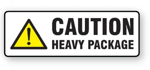 "VL148HP - Parcel Label ""HEAVY PACKAGE"" 148x50mm (500 Labels per Roll)"