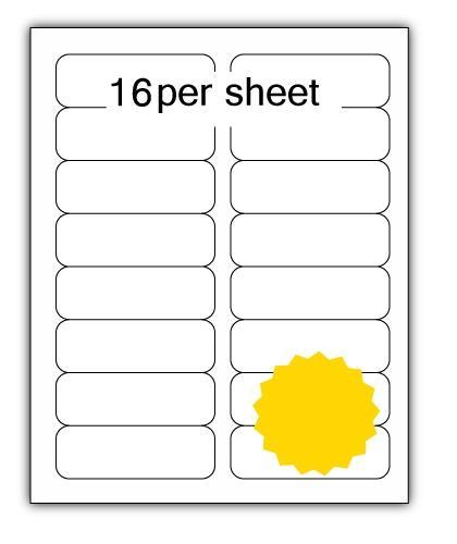 ULL16Y - A4 Label Yellow 99x34mm 16 up (100 Sheets)