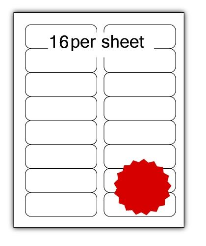 ULL16R - A4 Label Red 99x34mm 16 up (100 Sheets)