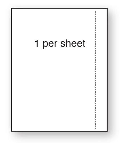 CLO1BSMWPE - A4 Label Matt White Polyethylene 210x297mm 1 up (100 Sheets)