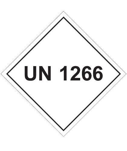 "HZ1016 - Hazard Label ""UN 1266"" 100x100mm (250 Labels per Roll)"