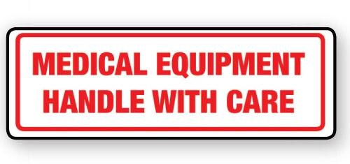 "VL148ME - Parcel Label ""MEDICAL EQUIPMENT"" 148x50mm (500 Labels per Roll)"