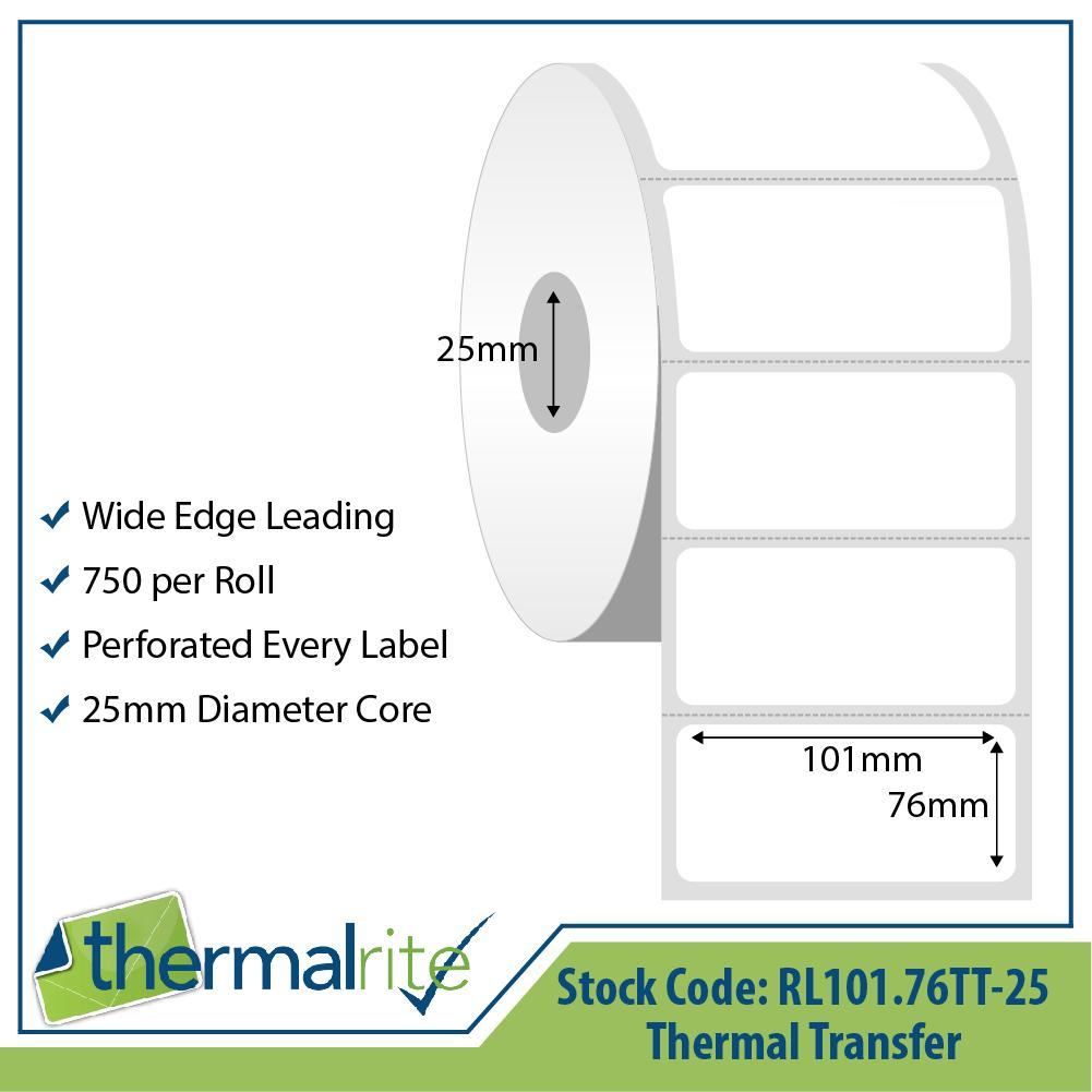 Thermalrite Thermal Transfer Labels 101x76mm