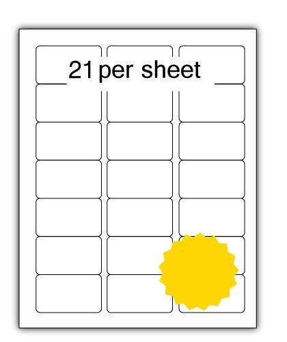 ULL21Y - A4 Label Yellow 64x38.1mm 21 up (100 Sheets)