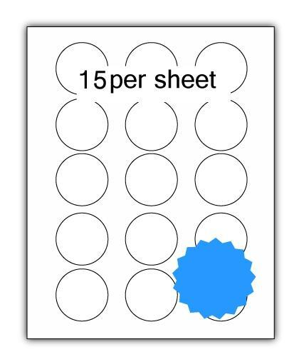 P51BL - A4 Label Blue 51mm Diameter Circle 15 up (200 Sheets)