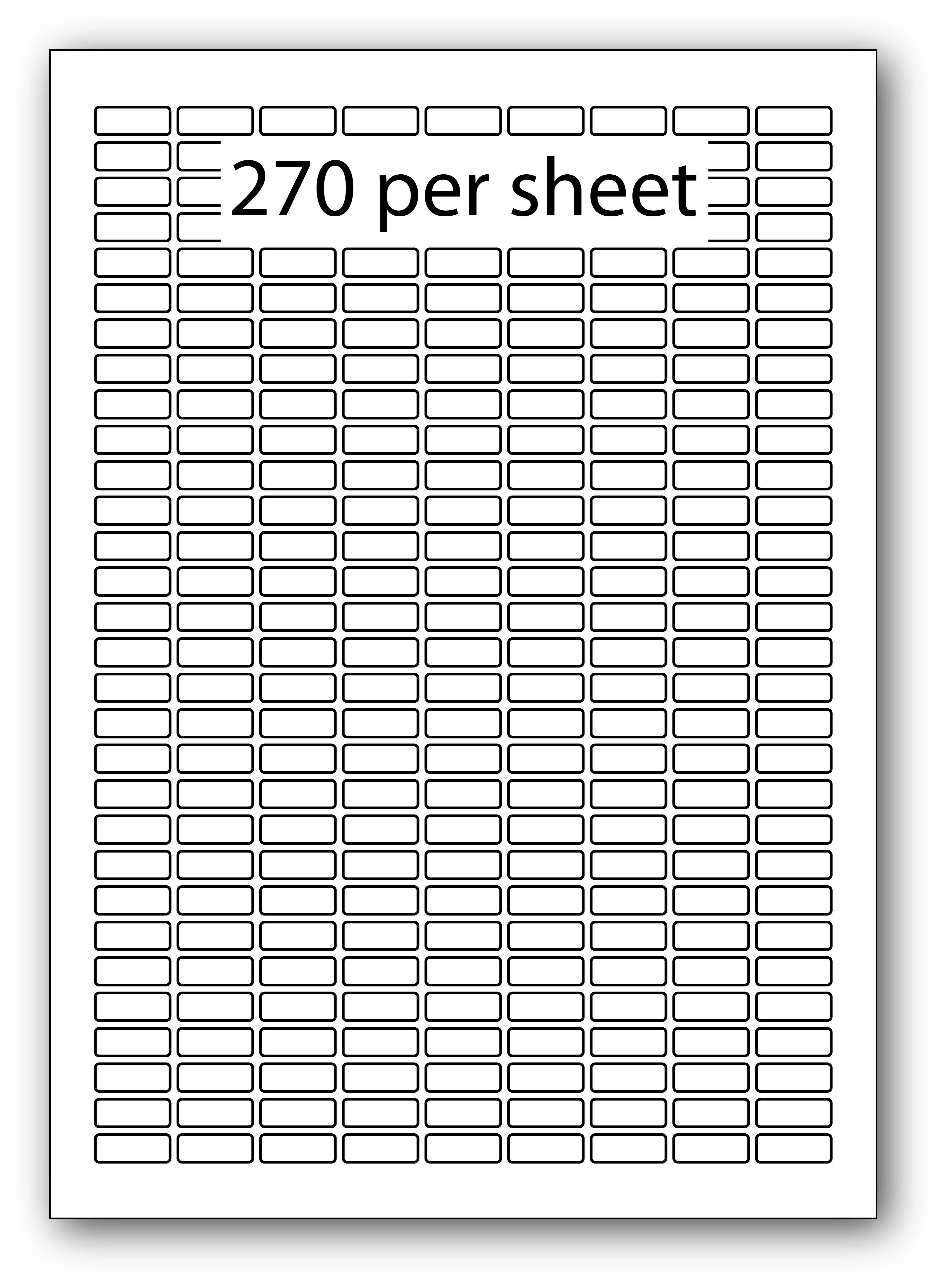 ULL270 - A4 Label White Permanent 19.5x7mm 270 up (100 Sheets)