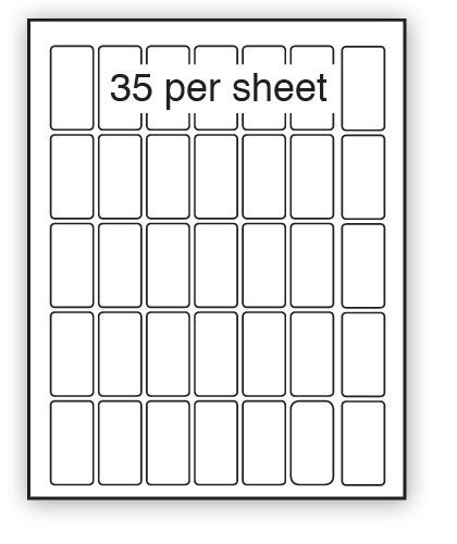GC25.51 - A4 Label Gloss Clear Polyester 25x51mm 35 up (100 Sheets)