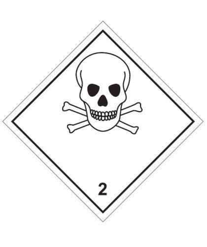 "HZ220P - Hazard Label ""TOXIC"" 100x100mm (250 Labels per Roll)"
