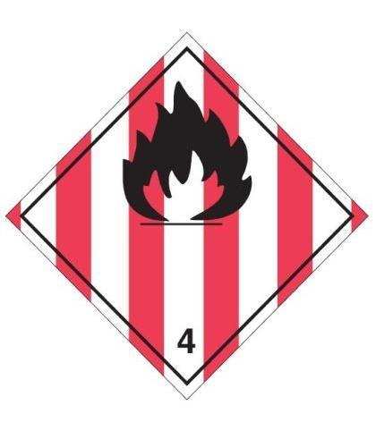 "HZ411P - Hazard Label ""FLAMMABLE"" 100x100mm (250 Labels per Roll)"
