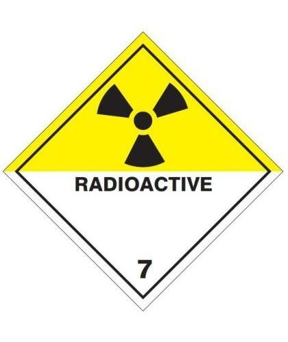 "HZ711 - Hazard Label ""RADIOACTIVE"" 100x100mm (250 Labels per Roll)"