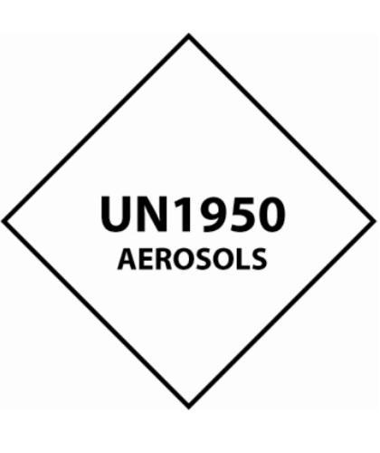 "HZ1013 - Hazard Label ""UN1950 AEROSOLS"" 100x100mm (250 Labels per Roll)"