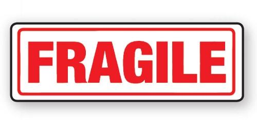 "VL148FR - Parcel Label ""FRAGILE"" 148x50mm (500 Labels per Roll)"