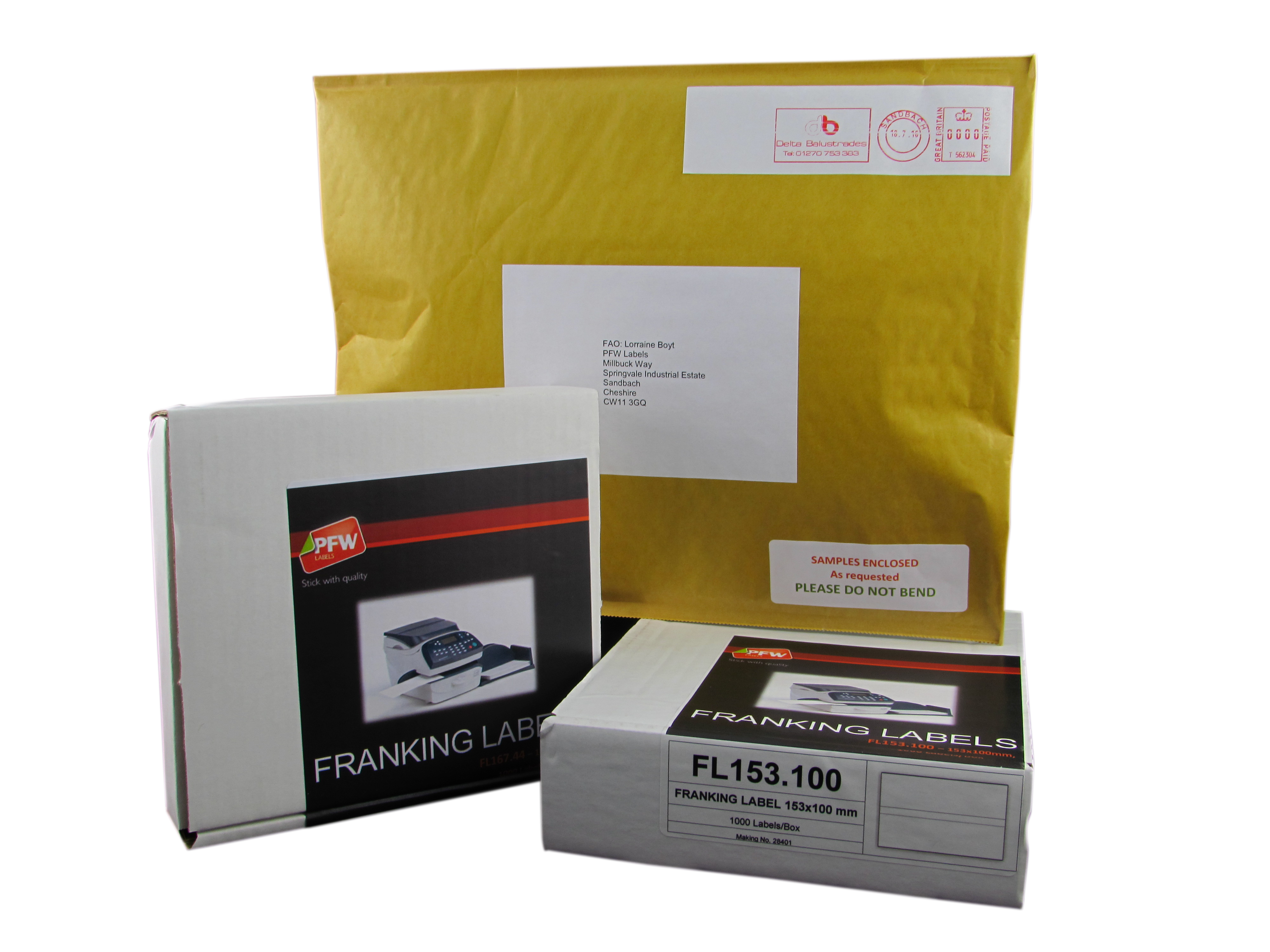 Franking Labels available from Stock