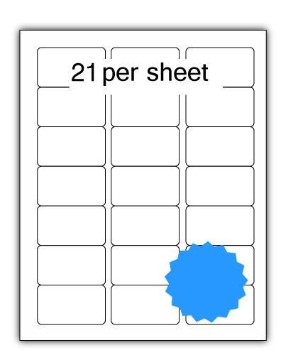 ULL21BL - A4 Label Blue 64x38.1mm 21 up (100 Sheets)