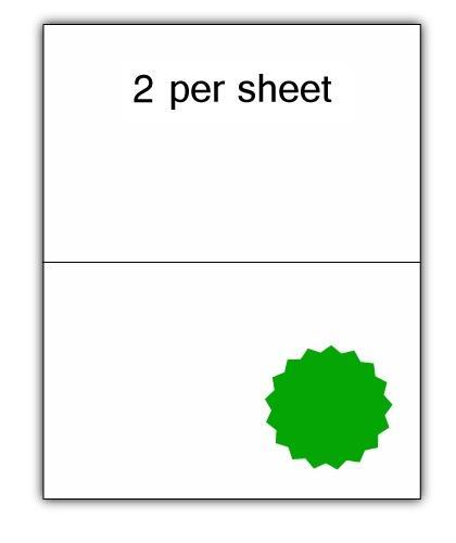 CLO2G - A4 Label Green 210x148.5mm 2 up (100 Sheets)