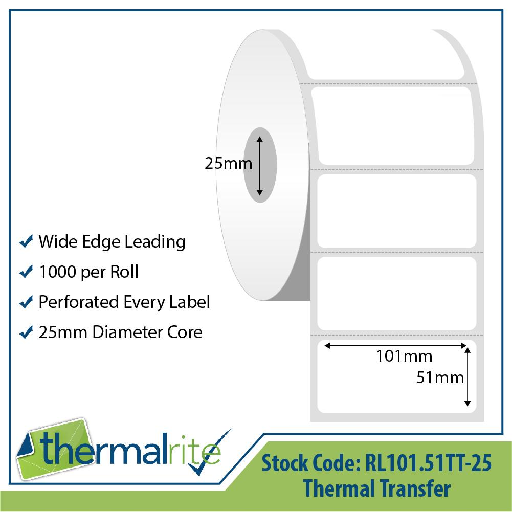 Thermalrite Thermal Transfer Labels 101x51mm