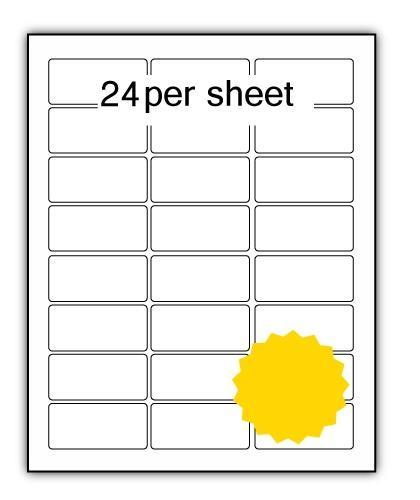 P62.33Y - A4 Label Yellow 62x33mm 24 up (200 Sheets)