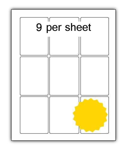 P63.88Y - A4 Label Yellow 63x88mm 9 up (200 Sheets)