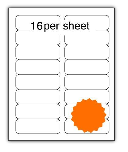 ULL16O - A4 Label Orange 99x34mm 16 up (100 Sheets)