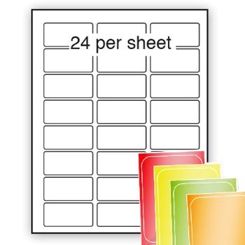 Fluorescent A4 Labels 62x33mm 24 per sheet