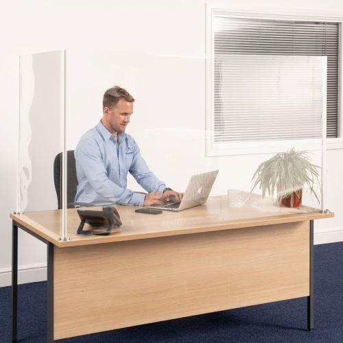 L Shaped Desk Divider for Covid Protection