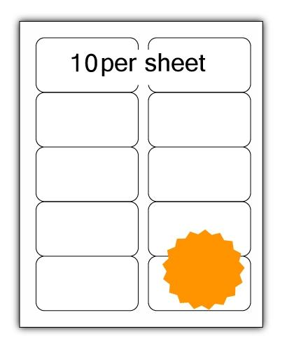 ULL10FLO - A4 Label Fluorescent Orange 99x57mm 10 up